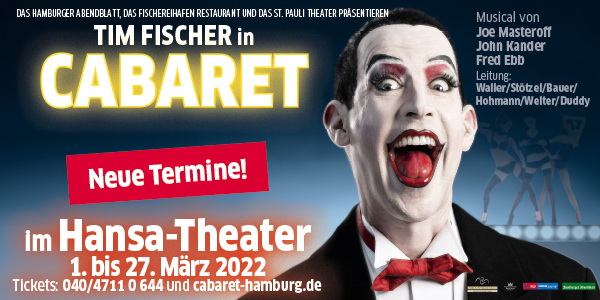 Tim Fischer in Cabaret - Legende meets Legende <br />Verlegt auf den 1.-27.3.22